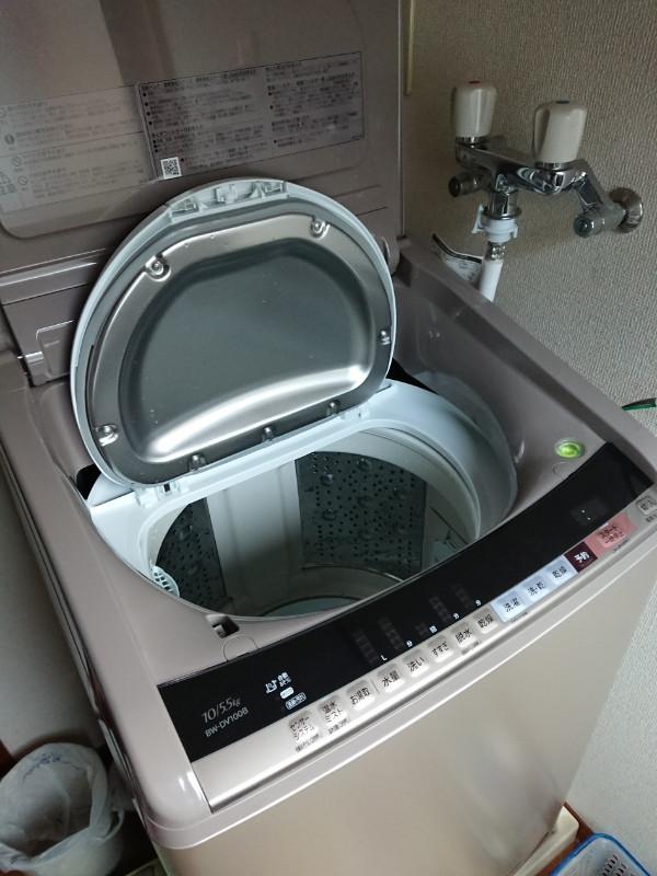 洗濯機納品